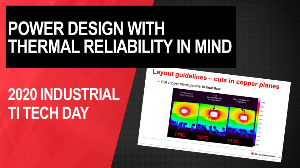 Power design with thermal reliability in mind