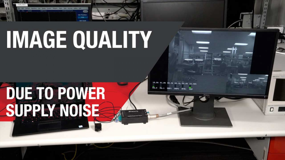 Image quality and power supply noise