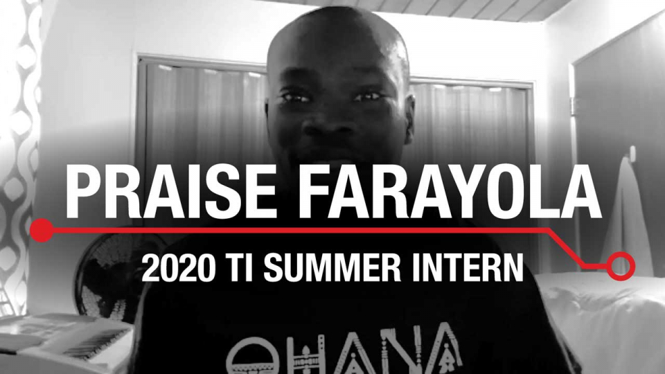Meet the Intern: Praise Farayola