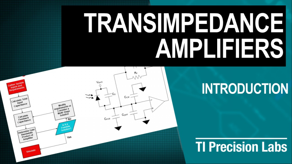 Transimpedance amplifiers training
