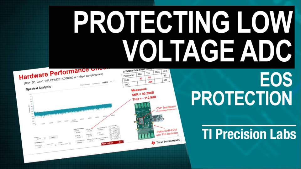 Protecting low voltage ADC