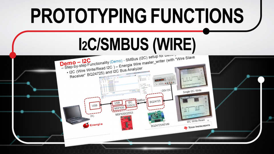 Rapid prototyping functions: I2C SMBUS