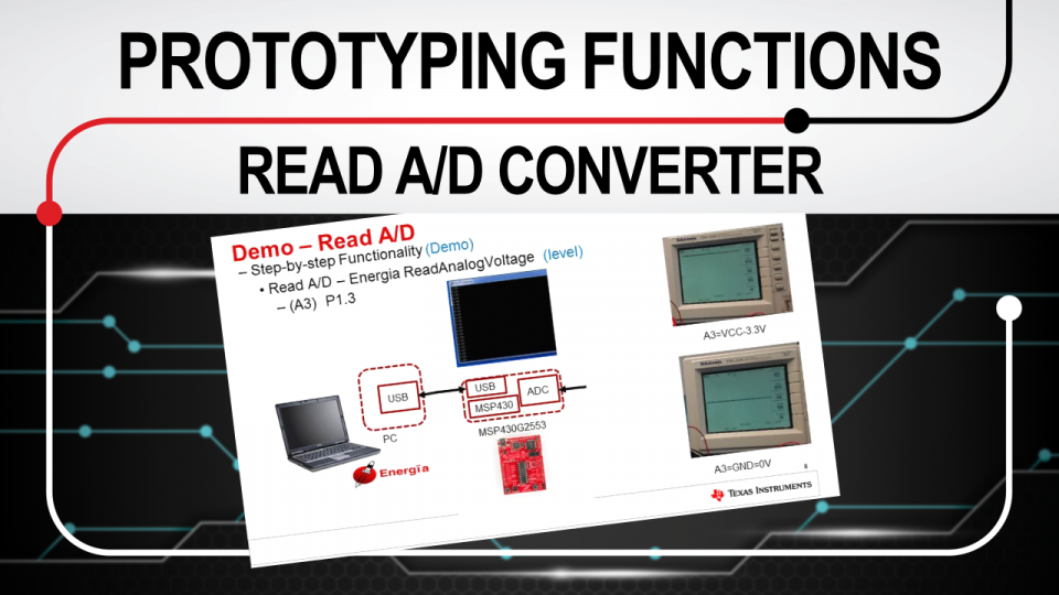 Rapid prototyping functions: read A/D converter