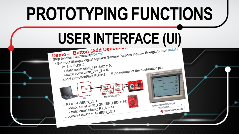 Rapid prototyping functions: user interface (UI)