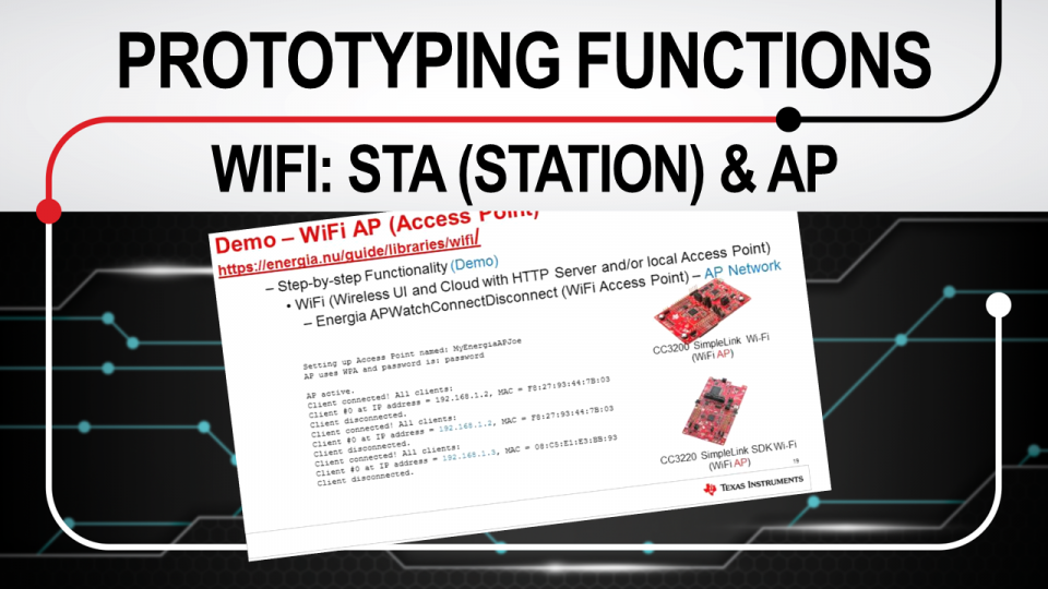Rapid prototyping functions WiFI