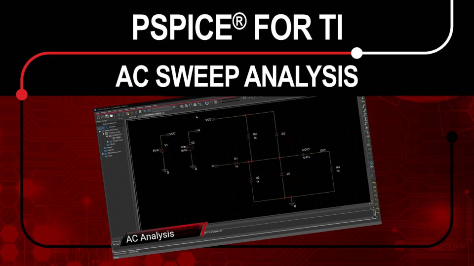 PSpice for TI - AC Sweep Analysis