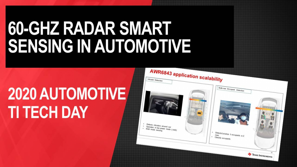 Using 60-GHz radar to enable smart sensing in automotive applications