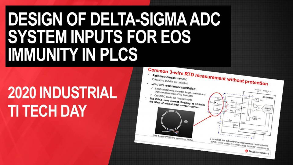 Robust design of Delta-Sigma ADC system inputs for EOS immunity – PLC analog input module