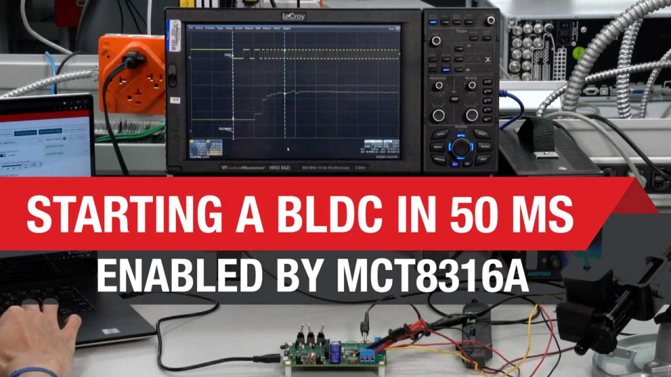 Starting up a BLDC motor in 50 ms