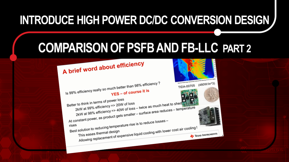 power DC/DC conversion design