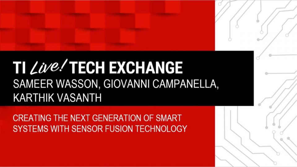 Creating the next generation of smart systems with sensor fusion technology