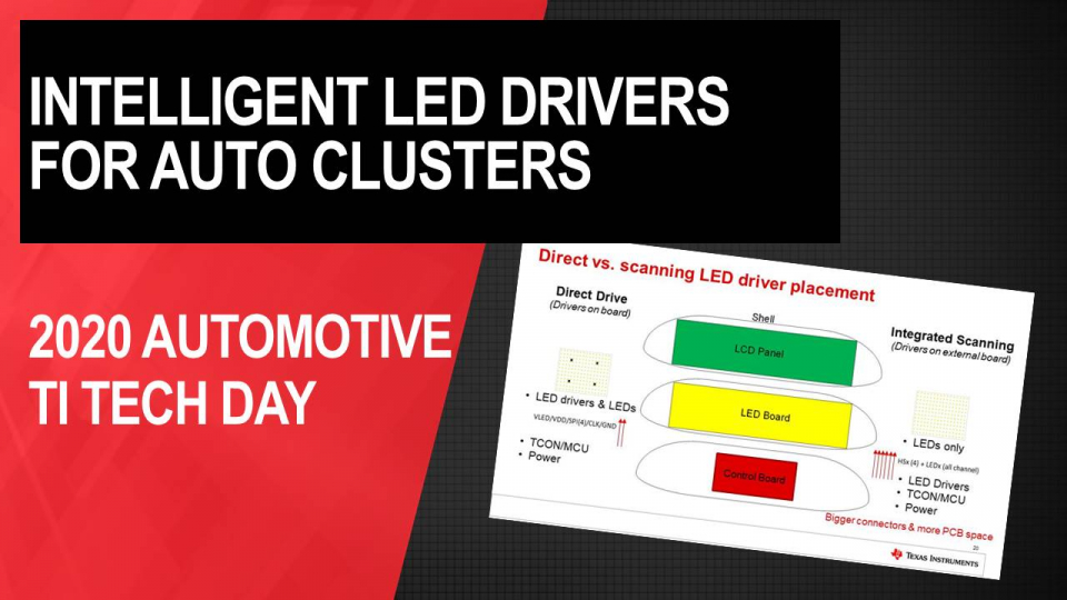TI's intelligent LED drivers in automotive cluster systems