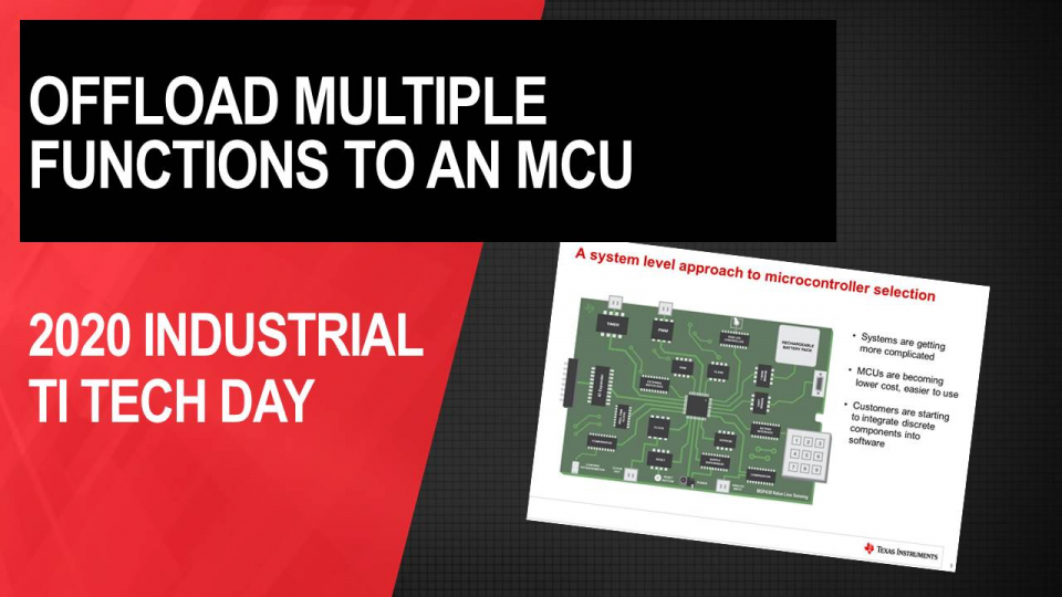 Simplify your design with integrated analog on MSP430™ MCUs