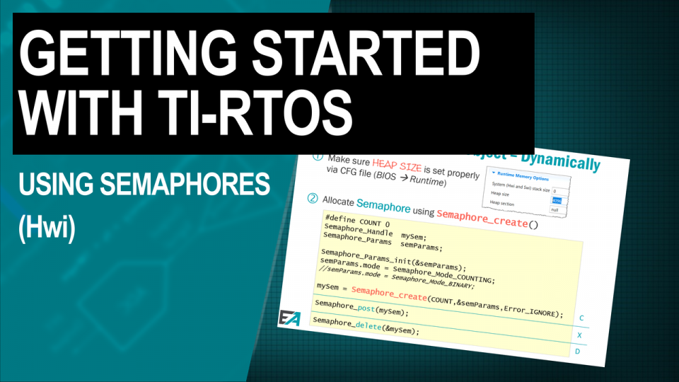 TI-RTOS Training Using Semaphores (Hwi)