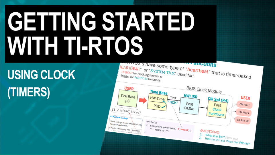 TI-RTOS Training Using Clock
