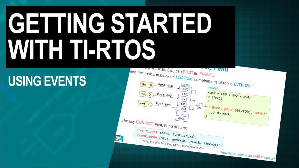 TI-RTOS Training Using Events