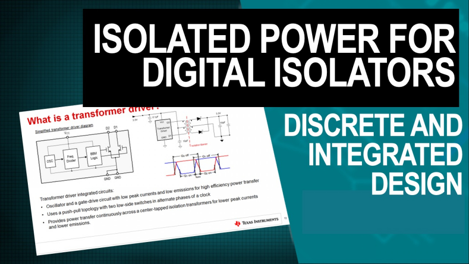 isolated power for digital isolators