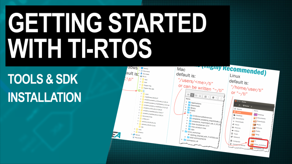 TI-RTOS Training Tools SDK Installation