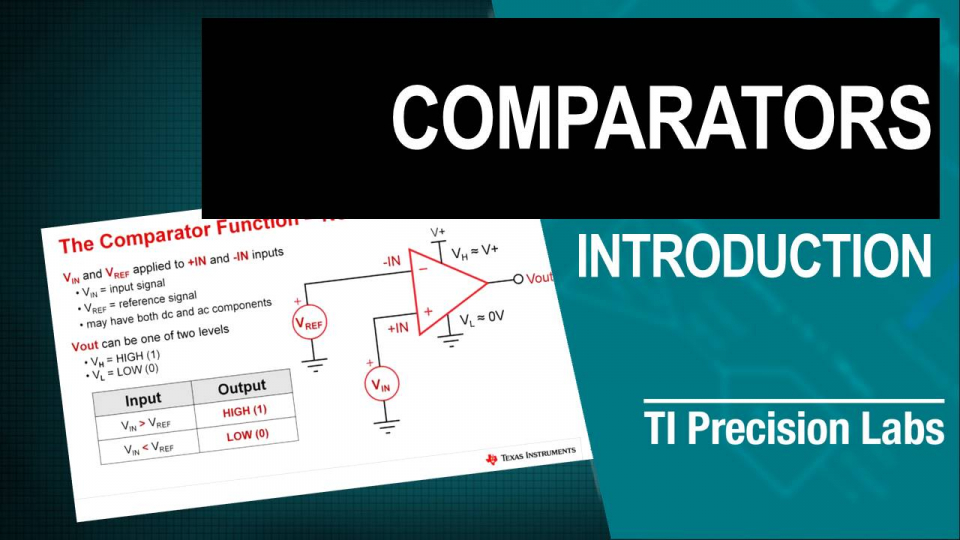 TIPL 2101 - Comparator Applications 1