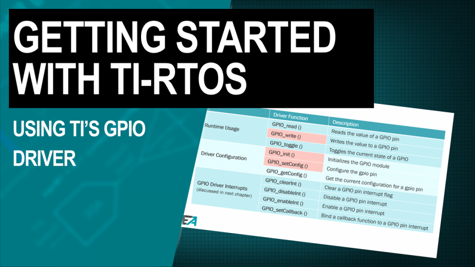 TI-RTOS Training Using TI GPIO Driver