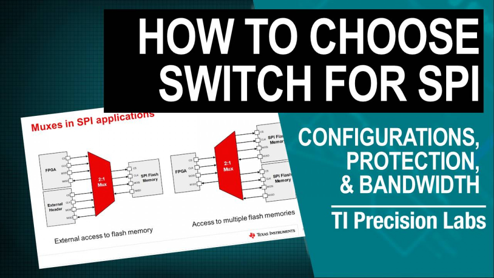 How to select the right signal switch for SPI applications