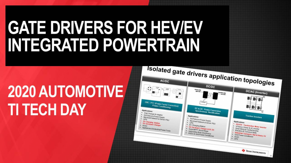 Advanced gate drivers for the combo box: the trend for an integrated powertrain system in EV
