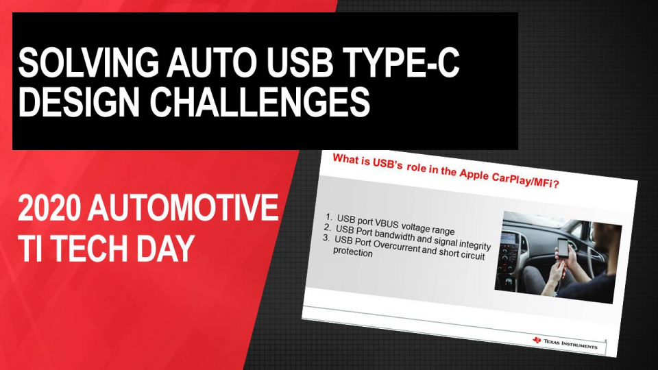 Solving Design Challenges for Automotive USB Type-C® in CarPlay Applications