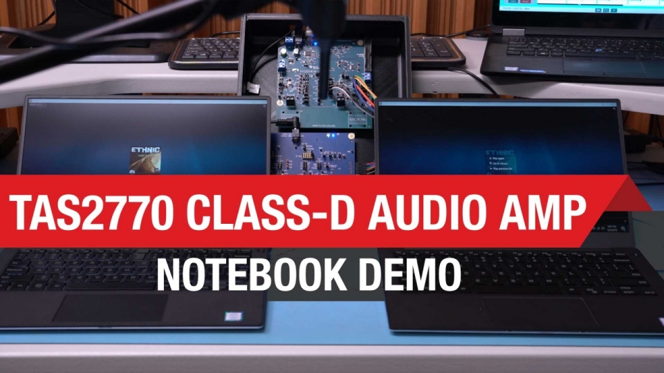TAS2770 Class-D Audio Amp Notebook Demo