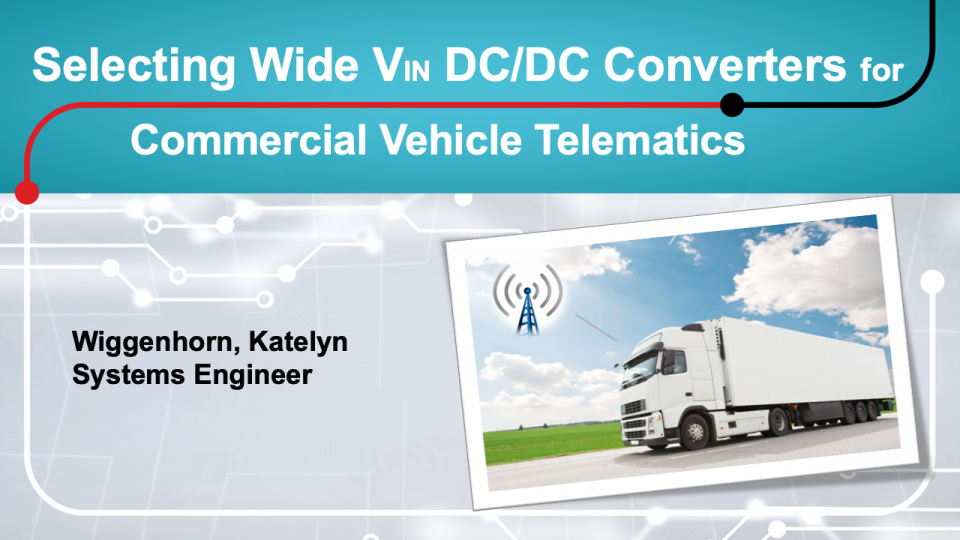 telematics for commercial vehicles