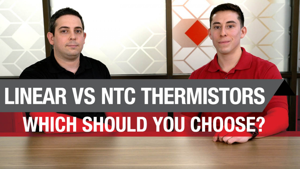 A quick video on the benefits of linear thermistors over NTC thermistors for temperature sensing.