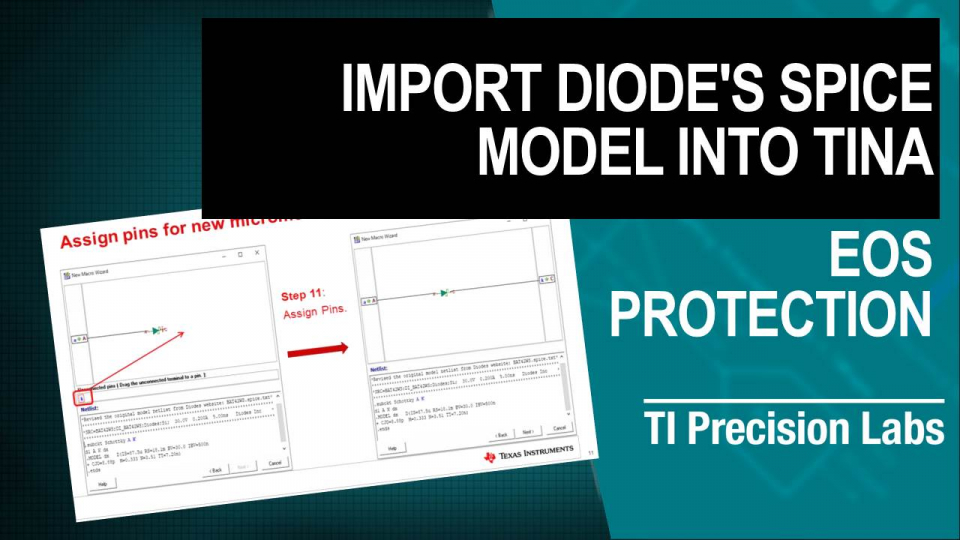 Import Diode's PSpice Model into TINA