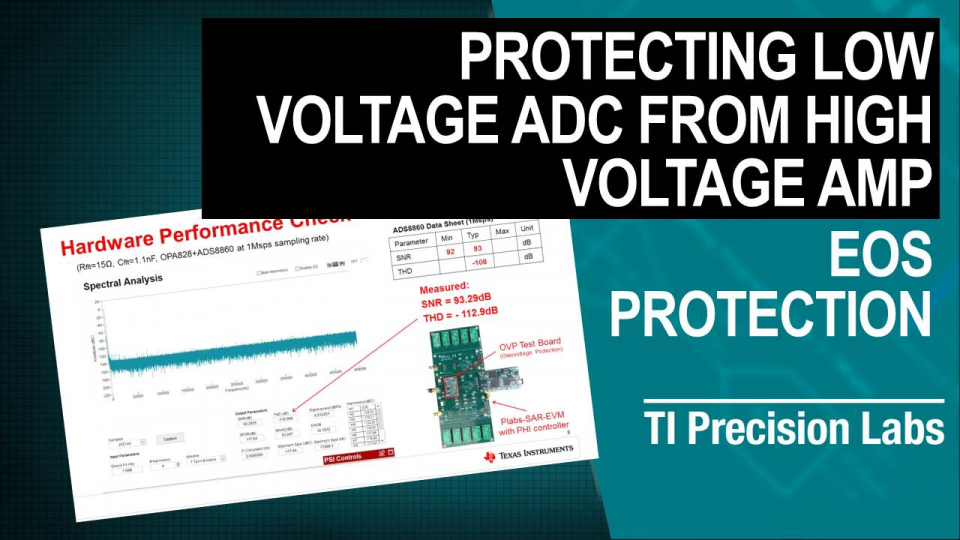 Protecting Low Voltage ADC from High Voltage Amp