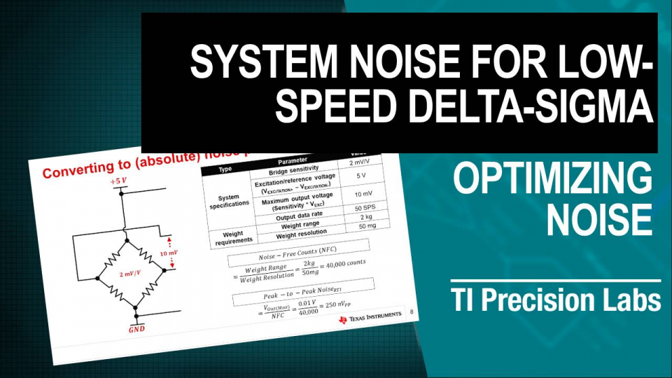 system noise for low speed delta-sigma