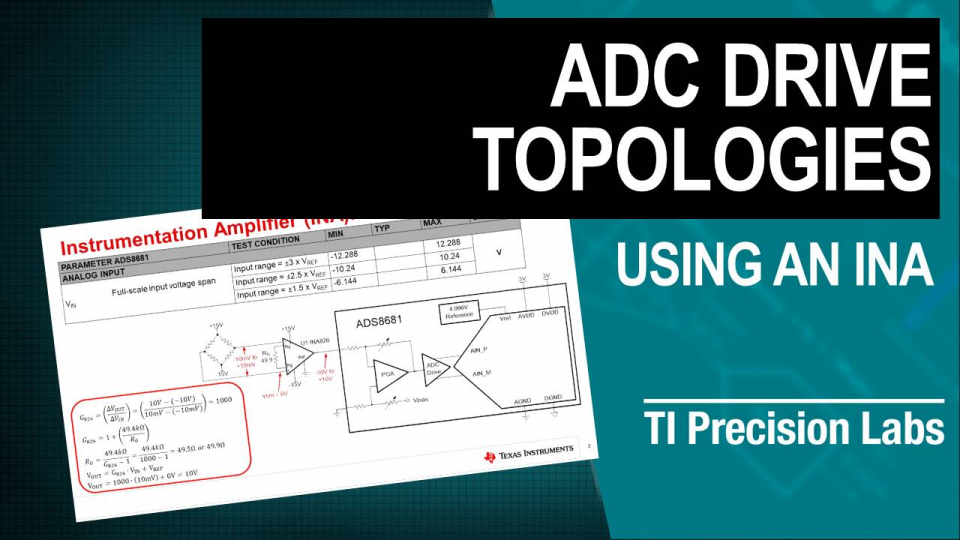 ADC drive topologies: using an INA