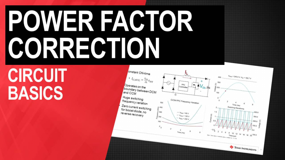 Power Factor Correction Circuit Basics