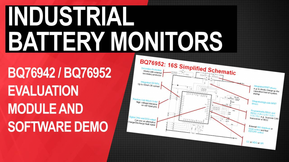 BQ76942 / BQ76952 battery monitors:Evaluation module and Battery Management Studio (BQStudio) software configuration