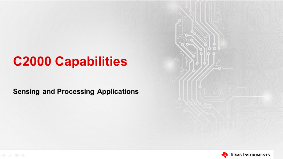 C2000 Capabilities for Sensing and Processing: Introduction