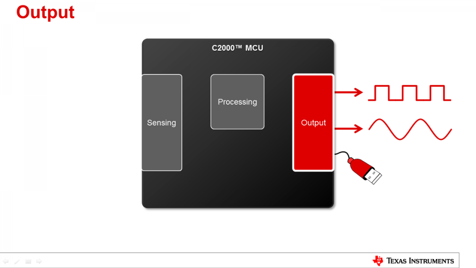 C2000 Capabilities for Sensing and Processing: Output