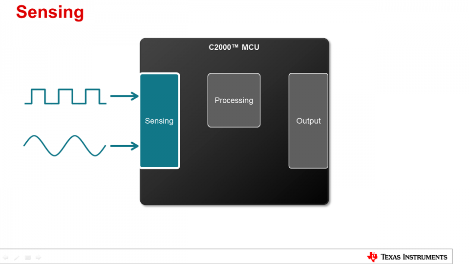 C2000 Capabilities for Sensing and Processing: Sensing