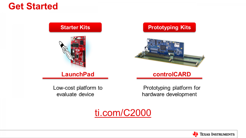 C2000 Capabilities for Sensing and Processing: Get Started