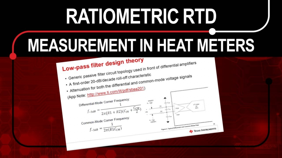 Ratiometric RTD measurement in heat meters