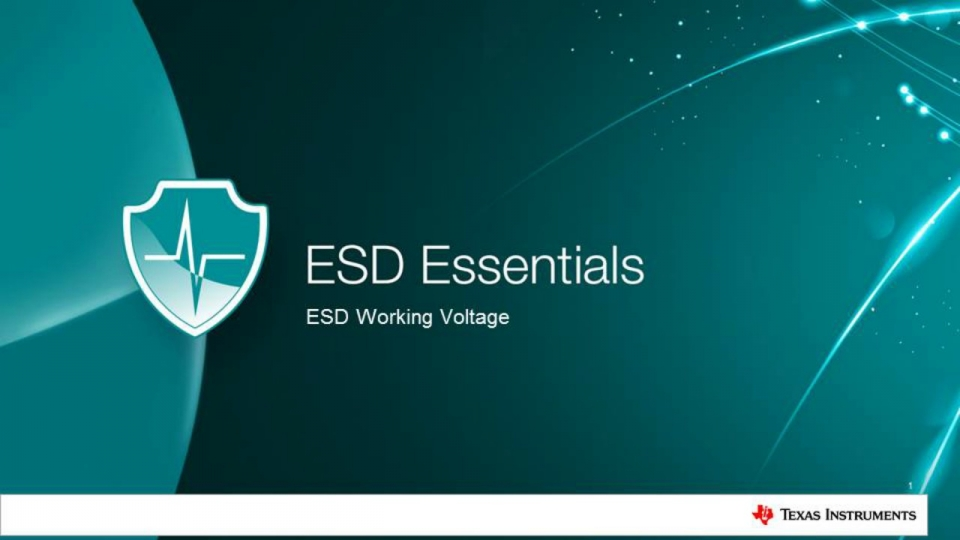 esd-working-voltage