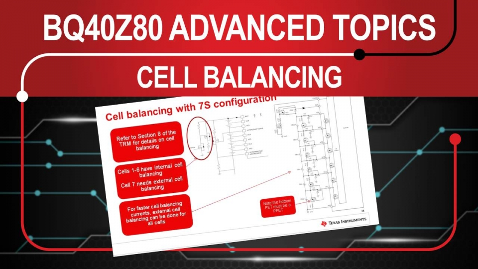 Advanced Topics on the BQ40z80 - Loads and Balancing