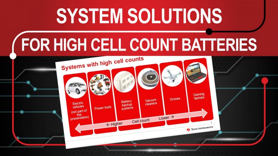 System solutions for high cell count applications