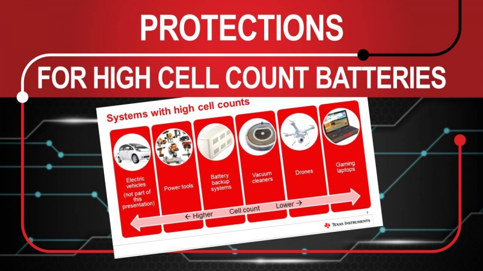 Protections for high cell count applications