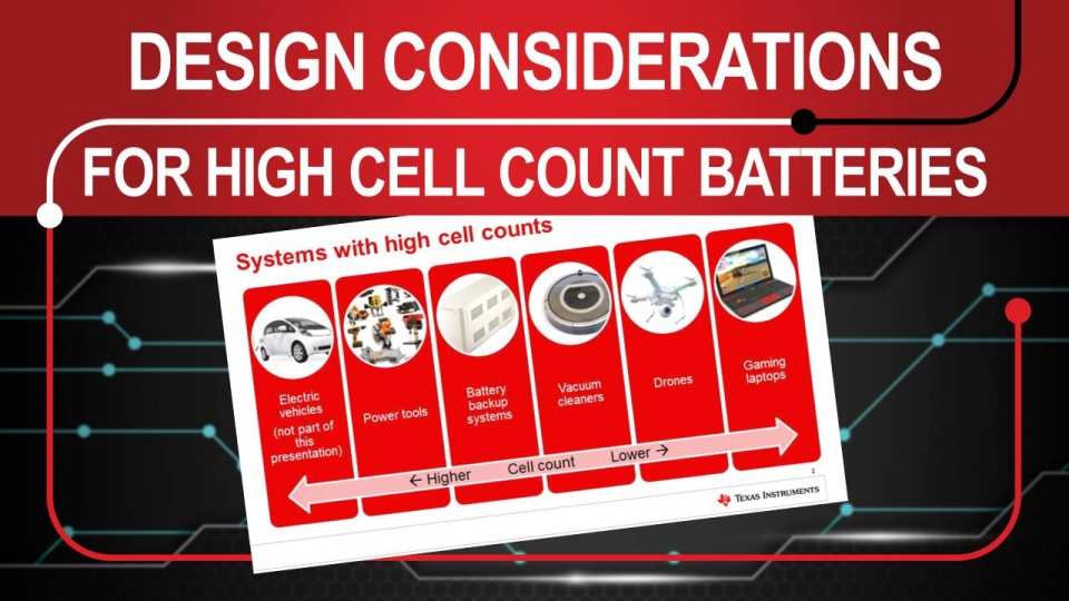 Introduction to Design Considerations for High Cell Count Applications