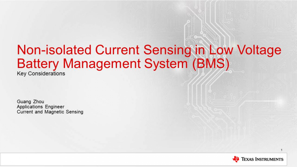 Current Sense Amplifiers in Battery Management Systems: Configurations