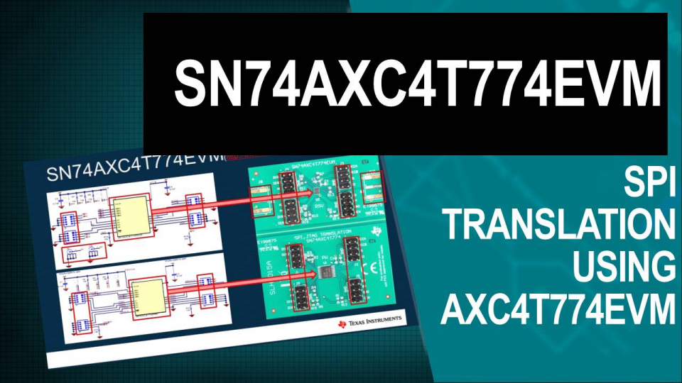 SPI level translation AXC4T774 EVM