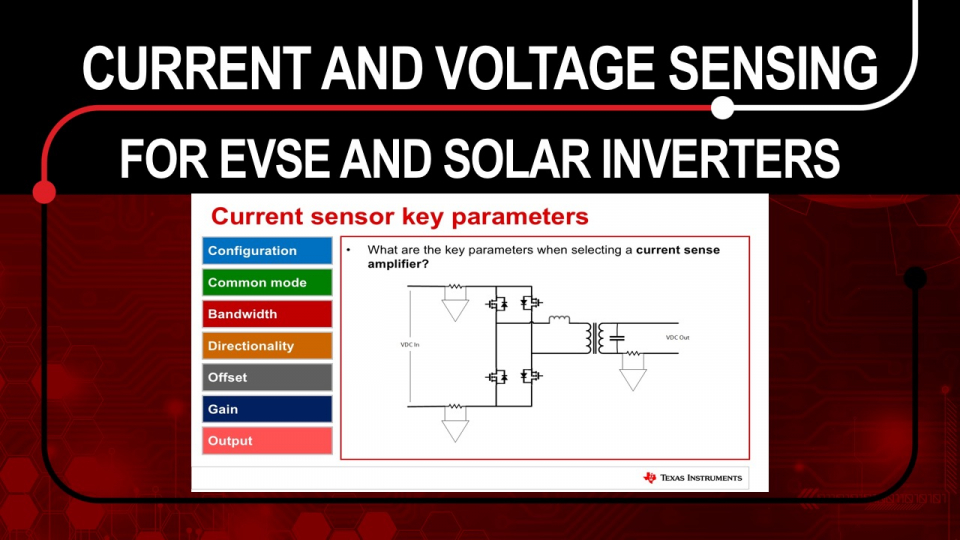 Current and voltage sensing for EVSE and solar inverters