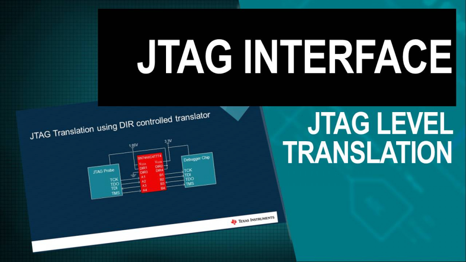 JTAG level translation AXC4T774 TXB0104